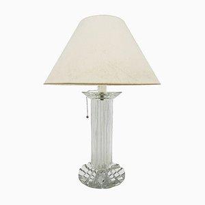 Lampada da tavolo in cristallo di Baccarat, anni '70