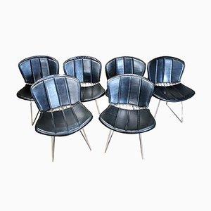 Chaises en Métal Rembourrées par Harry Bertoia pour Knoll, 1960s, Set de 6