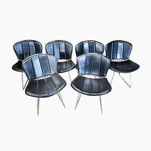 Padded Wire Chairs by Harry Bertoia for Knoll, 1960s, Set of 6