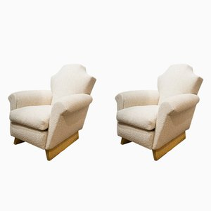 Vintage Bouclé Armchairs, Set of 2
