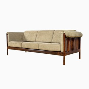 Mid-Century Rosewood & Alcantara Sofa by Johannes Andersen for CFC Silkeborg