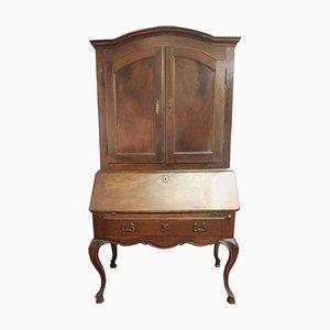 Mobile antico in noce con secretaire, inizio XVIII secolo