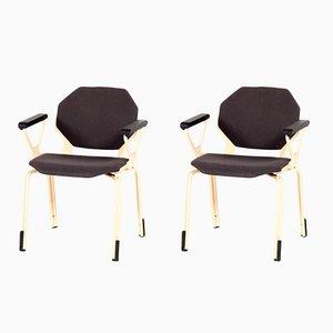 Chaise de Bureau Hexagonale par Froscher pour Sitform, 1970s, Set de 2