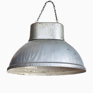 Lámpara colgante polaca industrial vintage de hierro, años 60