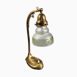 Ungarische Tischlampe aus Messing & Glas, 1930er