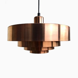 The Roulette Copper Ceiling Light by Jo Hammerborg for Fog & Mørup, 1960s