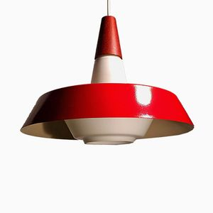 Vintage Danish Opaline Glass Pendant Lamp by Bent Karlby for Lyfa, 1960s