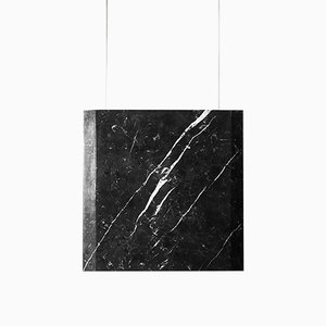 Werner Sr. Marquinia Marble Ceiling Lamp with Black Fixture by Andrea Barra for [1+2=8], 2017