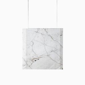 Lampadario Werner Sr. in marmo di Carrara ed oro di Andrea Barra per [1+2=8], 2017