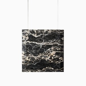 Werner Sr. Portoro Marble Ceiling Lamp with Satin Gold Fixture by Andrea Barra for [1+2=8], 2017