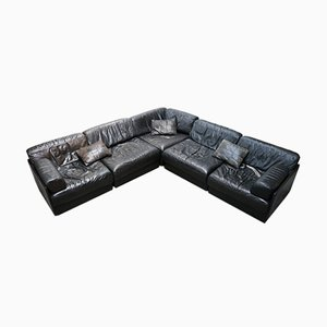 Unterteiltes schweizer Vintage Sofa von de Sede, 1972, 5er Set