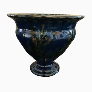 Black & Blue Glazed Vase from Kähler, 1920s