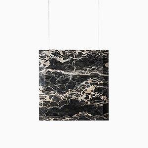 Lámpara de techo Wener Sr. de mármol Portoro con elemento negro de Andrea Barra para [1+2=8], 2017