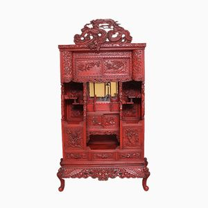 Antique Japanese Lacquered Shodona Cabinet, 1880s