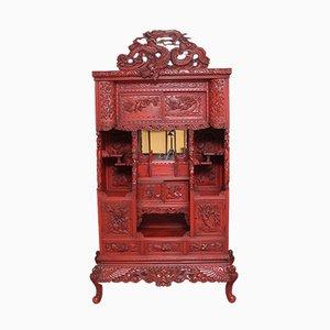 Mueble Shodona japonés antiguo lacado, década de 1880
