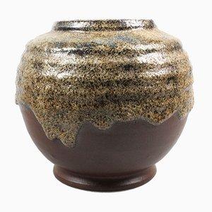 Fat Lava Vase from Brouwer's Aardewerk, 1950s