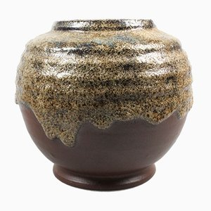 Vase Fat Lava de Brouwer's Aardewerk, 1950s