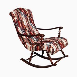 Rocking Chair Mid-Century en Noyer Tourné, Italie