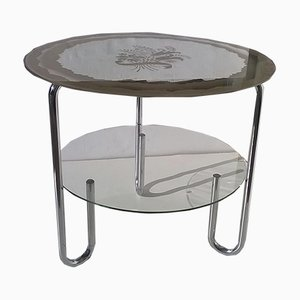 Vintage Italian Round Coffee Table, 1930s