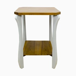 French Oak Side Table, 1940s