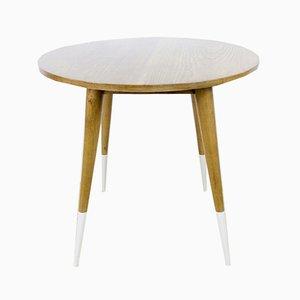 Runder spanischer Tisch aus Eiche, 1950er
