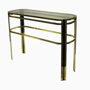 Table Console en Laiton, Italie, 1970s