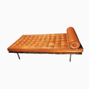 Sofá cama de cuero de Ludwig Mies van der Rohe para Knoll International, años 70
