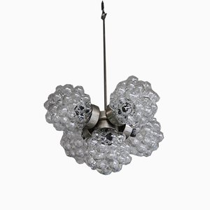 Vintage Model Raspberries Glass and Metal Chandelier from Kamenicky Šenov