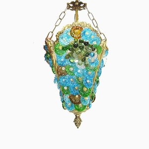 Vintage Murano Glass Ceiling Lamp