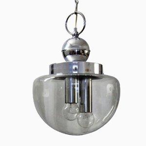 Lámpara de araña vintage de metal cromado, años 70