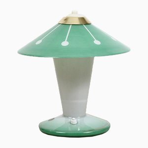 Vintage Glass Table Lamp from Meissen Glass