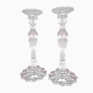 Mid-Century Czech Crystal Candeholders, Set of 2
