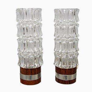 Lámparas de mesa danesas Mid-Century de palisandro, años 60. Juego de 2