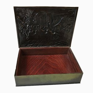 Art Deco Bronze Cigar Box by Holger Fredericia, 1930s