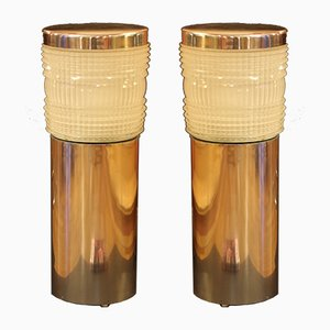 French Art Deco Floor Lights from Holophane, 1940s, Set of 2