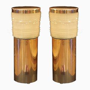 Lámparas de pie francesas Art Déco de Holophane, años 40. Juego de 2