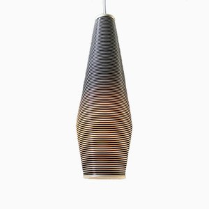 Mid-Century Striped Ceiling Light by Yasha Heifetz for Rotaflex Heifetz, 1950s