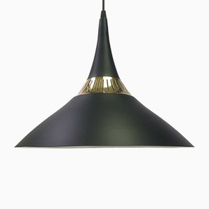 Danish Brass Ceiling Lamp by Bent Karlby for Lyfa, 1950s