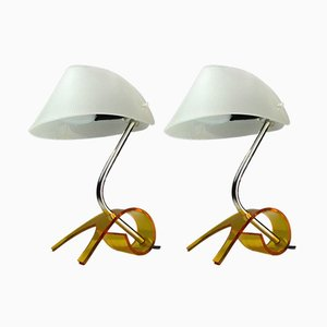 Vintage Table Lamps, 1960s, Set of 2