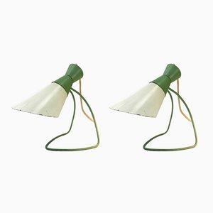 Lampes de Bureau Mid-Century par Josef Hurka pour Napako, Set de 2