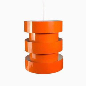 Orangefarbene Deckenlampe von Jo Hammerborg für Fog & Morup, 1960er