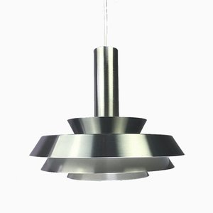 Brushed Aluminum Ceiling Light, 1970s