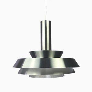 Lámpara de techo de aluminio cepillado, años 70