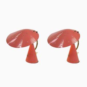 Lámparas de mesa de noche vintage de Cosack, años 50. Juego de 2