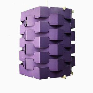 Violette Space Age Deckenlampe, 1960er