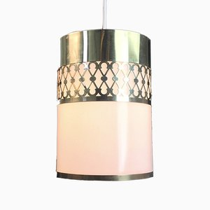 Vintage Danish Brass Ceiling Light from Lyfa