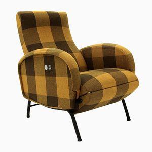Sillón reclinable italiano Mid-Century, años 60