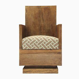 Italian Modernist Armchair, 1930s, Set of 2
