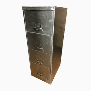 Industrial Steel Filing Cabinet with 4 Drawers, 1970s
