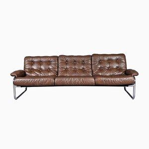 3-Sitzer Sofa mit Gestell aus verchromtem Stahlrohr von Johann Bertil Häggström für Ikea, 1970er